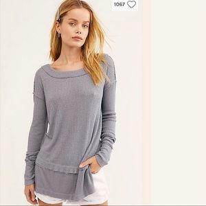 Free People north shore Thermal Top Tee NWT